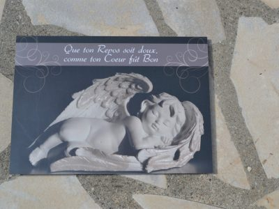 Plaque funéraire en ligne Ange